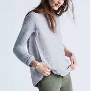 Madewell Riverside Textured High Low Sweater